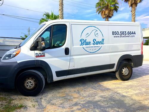 Blue Swell Big Van Graphics