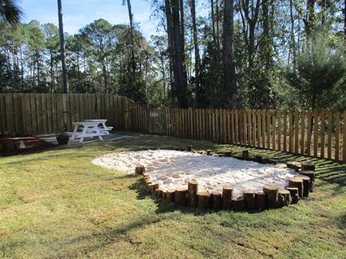Natural play yard