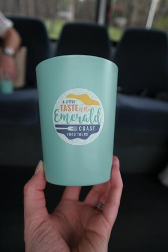 Cups Provided from stop to stop!  You can bring your own cooler!