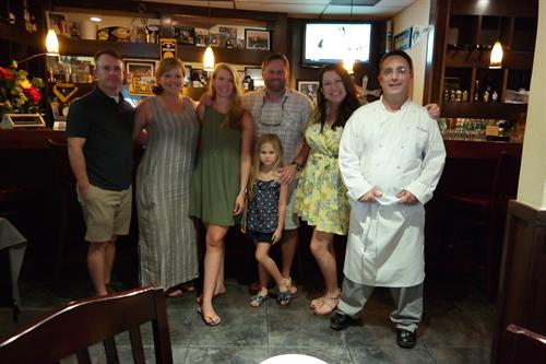Private Food Tour group with Chef Chris at Christiano's!