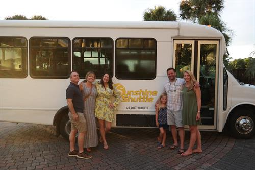 Thanks Sunshine Shuttle for being our transportation partner!