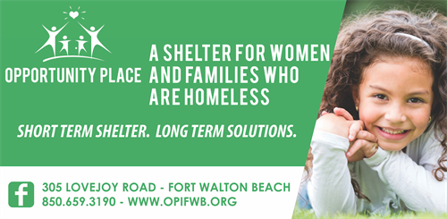 Short Term Shelter.  Long Term Solutions.  Opportunity Place.