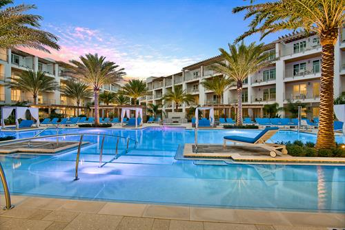 Our resort-style pool is the focal point of the property