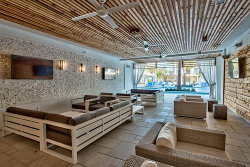 Take a break from the sun and relax in The La Cava Lounge