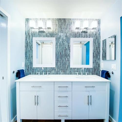 Coastal Bathroom Vanity Area