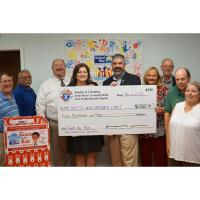 Knights of Columbus, St Mary's Council #4444,  Presents Check to United Way Emerald Coast