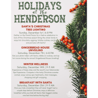 The Henderson Announces Holiday Happenings