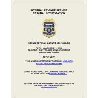 IRS Criminal Investigation Special Agent Hiring Announcement