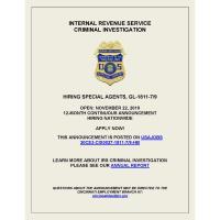 IRS Criminal Investigation Special Agent Hiring Announcement