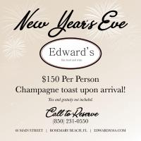 Edward's Fine Food and Wine Hosts New Year's Eve Dinner