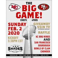 Watch the Big Game at Shades Bar & Grill this Sunday, February 2