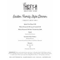 Cafe Thirty-A Offers Easter Sunday Meals To Go