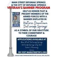 Main Street DeFuniak Springs Veteran's Banner Program Presented in partnership with the City of DeFuniak Springs