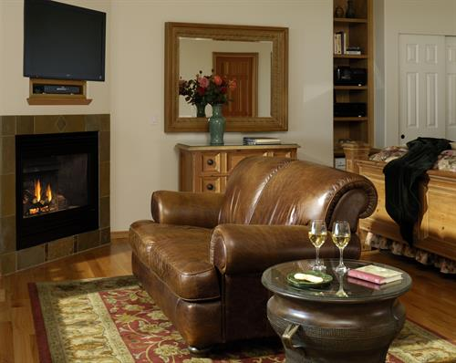 Love Seat & Romantic Fireplace