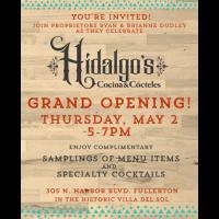 Hidalgo's Grand Opening