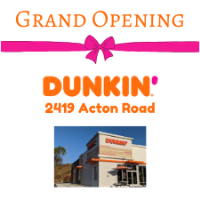 Dunkin' on Acton Road Grand Opening