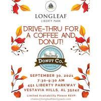 Longleaf Coffee & Donuts Drive-Thru!