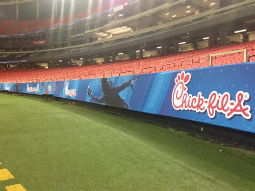 Chick-fil-a Bowl graphics and branding