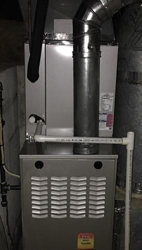 One of our new furnace and coli installs