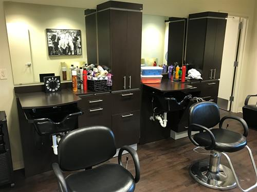 A salon is available and they even offer manicures/pedicures.