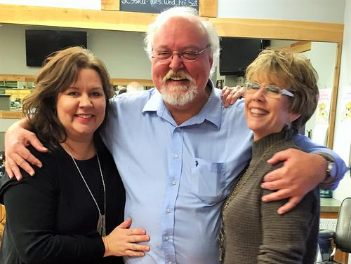 We consider ourselves more than coworkers, we are family! Melanie McArthur Miller, Randy McArthur and Donna McLaurin have a total of 111 years of barbering experience combined!