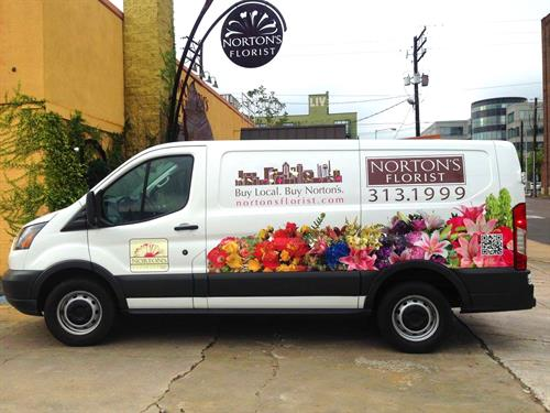 Nortons Florist Vehicle Wrap