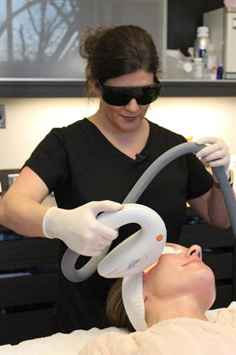 Aesthetic and Laser Center visit with Kim Halverson, Aesthetician