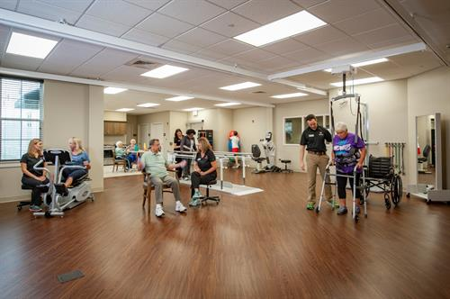 Two state of the art gyms for physical, occupational and speech rehabilitation.