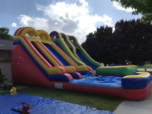 18' and 20' waterslides