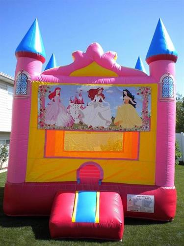 13'x13' princess bounce castle