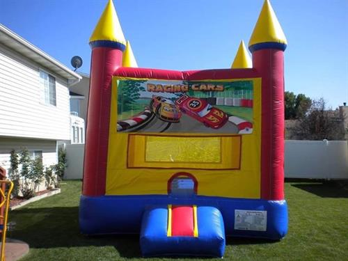 13'x13' race car bounce castle