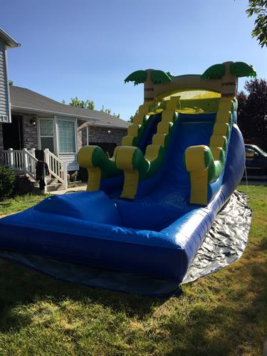 14' tropical water slide