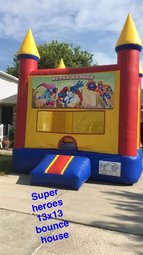 13'x13' super heroes bounce castle
