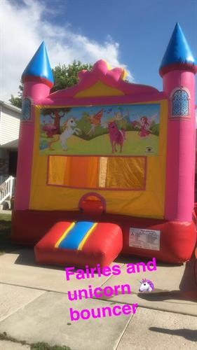 13'x13' fairies and unicorn bounce castle