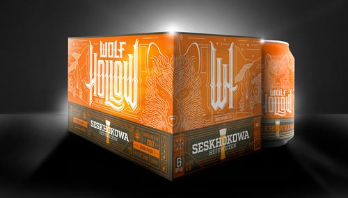 Wolf Hollow Brewery Box Design