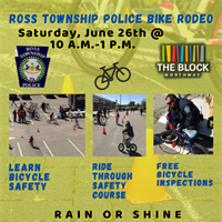 Ross Township Police Bike Rodeo at The Block Northway