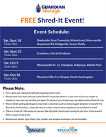 Guardian Storage to host FREE community Shred-It event!