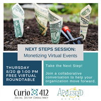 Monetizing Virtual Events - Presented by Curio412 and Appleseed Events