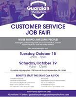 Guardian Protection Customer Service Job Fair
