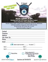 3rd Annual Don't Stop Dreamin' Golf Outing, September 19