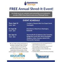 FREE Annual Shred-it Event at Guardian Storage