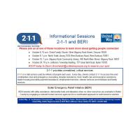 Informational sessions on 2-1-1 by the United Way