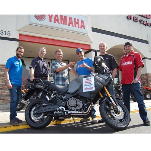 Congrats on winning a brand new Yamaha Tenere!