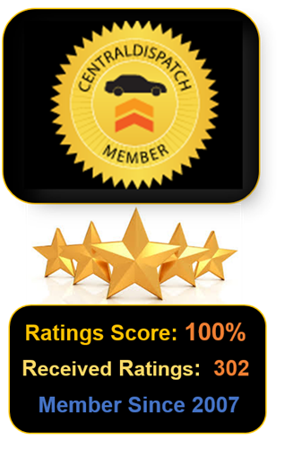 Bonded and fully licensed, Metti International has earned a 100% rating on Central Dispatch, the industry standard.