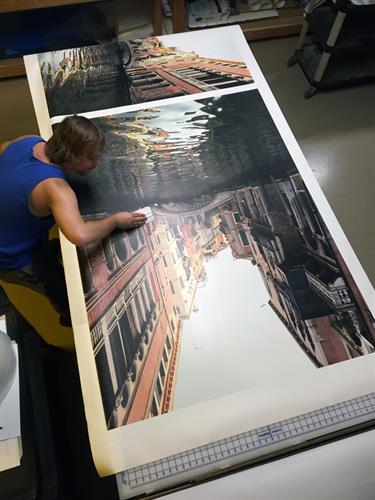 Large format digital photograph print
