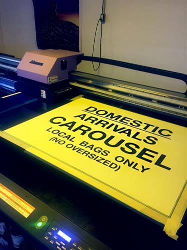 Printed signage