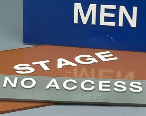 Laser cut & ADA braille acrylic signs