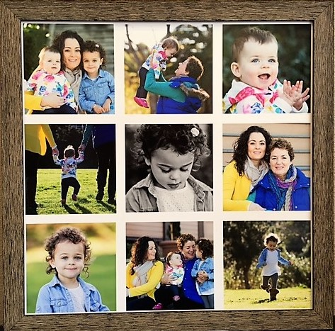 We can frame several photos and create a fun layout so you can enjoy your memories every day!