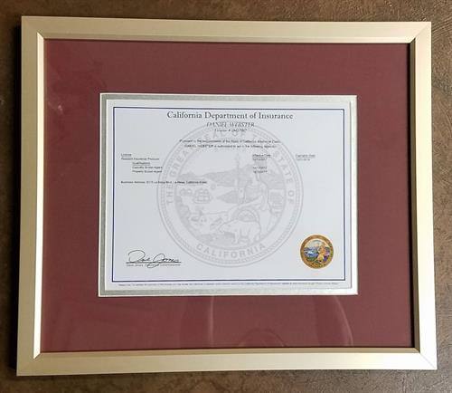 We frame diplomas and certificates
