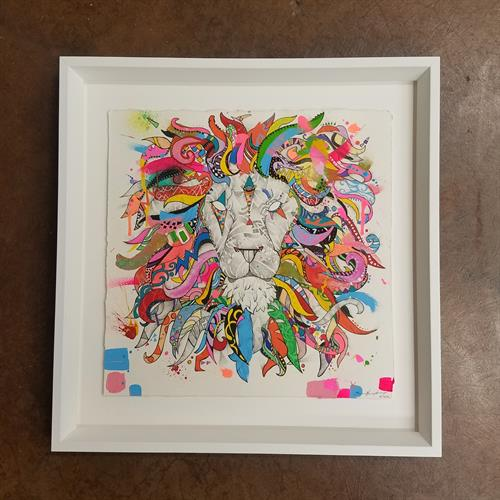 Art by Jason Humphrey - white on white makes it stand out!